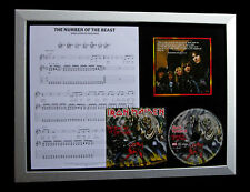 IRON MAIDEN Number Of The Beast QUALITY CD FRAMED DISPLAY+EXPRESS GLOBAL SHIP