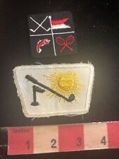 Patch Lot Of 2 Golf Patch (and Fishing & Tennis & More On One Or Them) C98S