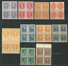 Venezuela: Lot of 10 diff. stamps in block of 4, mint NH. VE2653