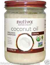 NEW NUTIVA ORGANIC COCONUT OIL VIRGIN SUPERFOOD VEGAN USDA LESS CHOLESTEROL