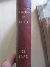 SCARCE LA SCIENCE ET LA VIE SCIENTIFIC MAGAZINE FRENCH  JAN-JUN 1933 COVERS!
