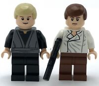 LEGO LOT OF 2 STAR WARS MINIFIGURES HAN SOLO & LUKE SKYWALKER JEDI FIG GUYS