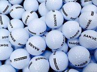 100 x WHITE RANGE GOLF BALLS BRAND NEW UNBRANDED 2 PIECE DRIVING PLAIN PRACTICE