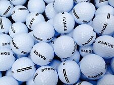 100 x WHITE RANGE GOLF BALLS BRAND NEW UNBRANDED 2 PIECE DRIVING PLAIN PRACTICE