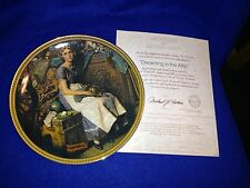 "Norman Rockwell ""Dreaming in the Attic"" Plate with C.O.A. and Box #15470Aq"