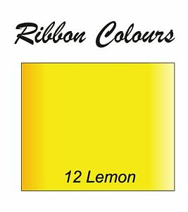 Personalised Yellow 25mm Ribbon Birthday Christmas Wedding Anniversary Stag Hen,