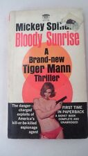 1965 Signet Bloody Sunrise Tiger Mann Mickey Spillane Sexy Nude Pinup Cover