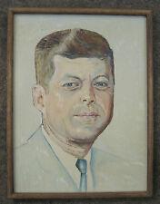 Portrait of JOHN KENNEDY - Oil on Canvas  -  Oak Framed