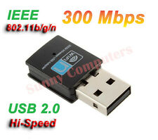 Mini Wireless Network Card WiFi Internet Adapter USB Dongle 802.11n/g/b 300Mbps