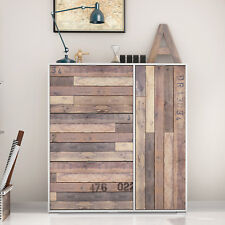 Zapatero armario blanco frontal madera de 3 baldas y 1 puerta mueble auxiliar