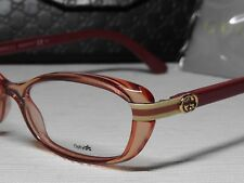 d39149bda88 Gucci GG3200 Starfish Pink Crystal Rectangle Frame Optical Eyeglasses 52 16  140