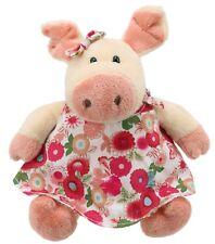 Plüschtier Schwein Schlenker Kuscheltier, Stofftier Ferkel im Kleidchen ca.17cm