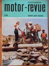 Tschechoslowakische MOTOR REVUE 6 - 1966 Eispeedway-WM Jawa 350 CZ Trial