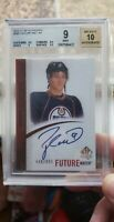 2010-11 SP Authentic Taylor Hall Future Watch Auto Rookie RC /999 BGS 9 auto 10