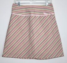 GAP - 4 (S) - NWOT - Multi-Color Striped Cotton Stretch A-Line Bow Mini Skirt