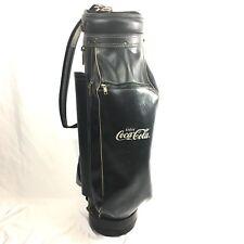 Vintage Coca Cola Leather Golf Bag Black Made in USA