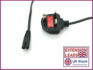 UK Mains Power Lead Cable Philips LED TV 8 2 Pin 2m
