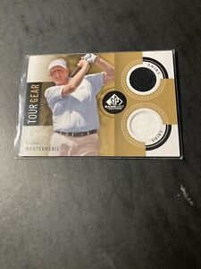 2013 UPPER DECK SP GAME USED COLIN MONTGOMERIE DUAL RELIC CARD Gold 10/35