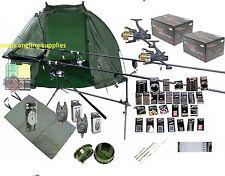 Mega Carp Fishing Set Up Kit Rods Reels Rigs Alarms Bait Tackle Tools Mat Giant