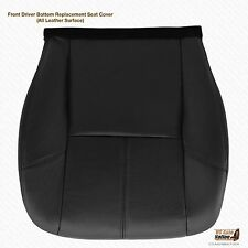 2007-2014 Chevy Silverado Driver Bottom Leather Seat Cover (Heated) color Black