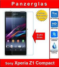 Sony Xperia Z1 Compact Panzerglas 9H, Echtglas Schutzfolie Glasfolie Panzerfolie