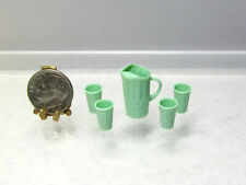 Dollhouse Miniature Plastic Pilsner Beer Glasses Cups Set of 4 G7529