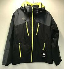Descente Men's Maverick Snow Ski Winter Jacket Black Gray Yellow Size XLarge NEW