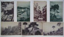 1921 ALPES-MARITIMES Seven Deckle-Edge Nationale des Voyages Postcards Unposted