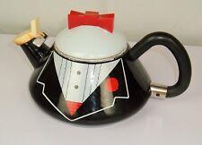 Rare Vintage M KAMENSTEIN 1987 Black Tuxedo Red Bow tie Tea Pot