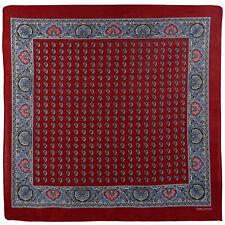 Hommes Garçons Coton Vintage Style Décoratif Rouge Bandana Cachemire Bandanna