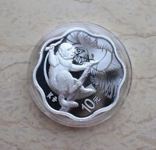 China 2016 Monkey Silver (Plum Blossom Shaped) 1 Oz Coin