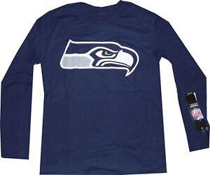 Seattle Seahawks Youth Boys 8-20 Long Sleeve Shirt LOGO Youth 8-20 New tags