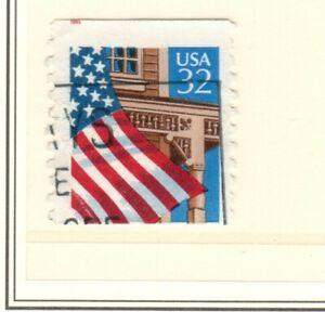 US EFO Scott #1996 32 Flag over porch single, major misperf error!!