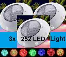 NEW HQ 3x 252 LED SWIMMING POOL STRONG LIGHT RGB  WITH 7 COLOUR  REMOTE CONTROL*