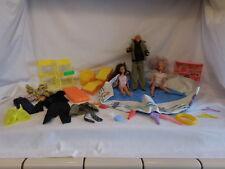Barbie Vintage 1980`s Backyard Pool Set by Arco + 1968 Ken + 1980's Dolls + Acce
