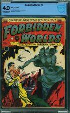 Forbidden Worlds 1 CBCS 4.0 OW/W KEY Frazetta, Williamson ACG 1951 CGC Horror VG