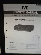 ORIGINALI service manual JVC STEREO DOUBLE CASSETTE DECK td-w203