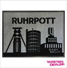 Ruhrpott Fußmatte / Ruhrgebiet  Fußmatte / Grau / 50 cm * 70 cm / Ruhr-Metropole