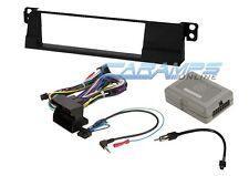 02-05 E46 3-SERIES CAR STEREO RADIO DASH INSTALL TRIM KIT W WIRING HARNESS & SWC