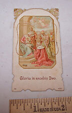 Antique GLORIA IN EXCELSIS DEO Holy Prayer Card Book Mark Bible  Christianity