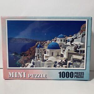 Jigsaw Puzzles 1000 Piece MINI Aegean Sea Santorini Greece Puzzle Home Decor