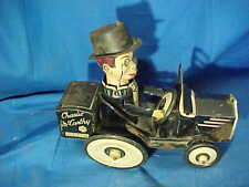 1930s MARX Tin Litho CHARLIE McCARTHY + His JALOPY Wind Up TOY CAR
