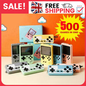 Retro Handheld Video Game Console Gameboy Built-in 500 Classic Games Toy Gift UK