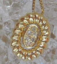 ✨5,1 gr. in aus 585 Gold Kette mit ✨0,12 ct. Brillanten Collier Diamant Brillant