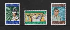 1977 Cayman Islands - Silver Jubilee - Full Set of Three - MNH.