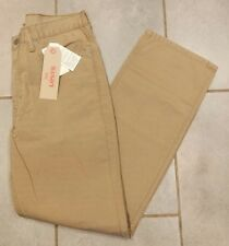 New Mens 514 Levi Strauss Straight Padox Canvas Tan Pants Jeans 33x32 33w 32L