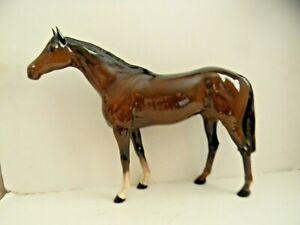 BESWICK BROWN GLOSS LARGE RACEHORSE - 1564