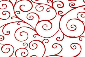 Red Scroll Christmas Cellophane Roll for XMAS Gift Hamper Wrap Packaging - 100m