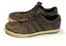 Adidas NEO Mens 9.5 Brown Suede Sneakers Tennis Shoes Leather 3-Stripe Skate