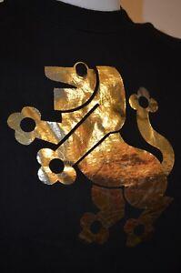 Lion Shiny Gold Alchemy Goth Royal Hanes Single Stitch L T-Shirt USA VTG 80s 90s